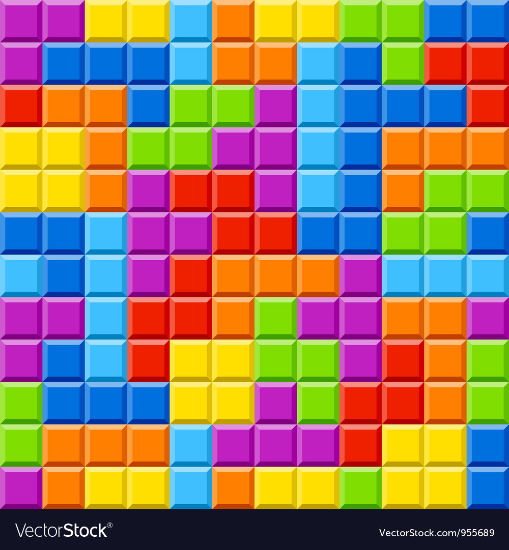 Seamless color blocks background vector image