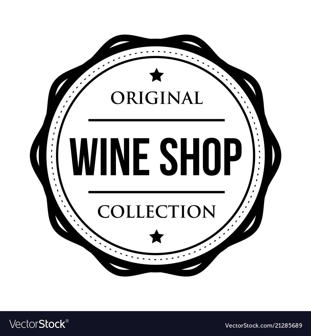 Wine shop logo vintage isolated label