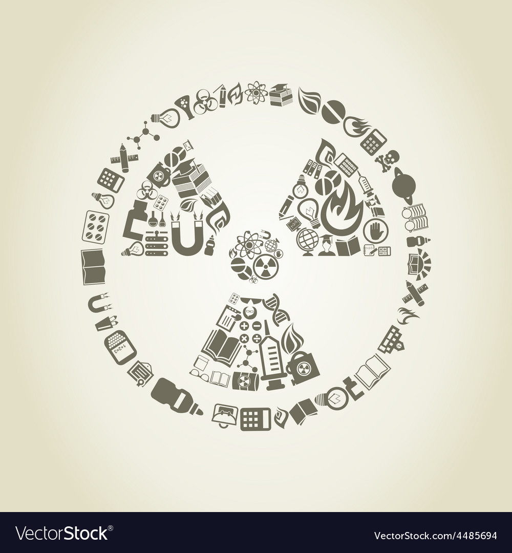 Chemical danger a science vector image