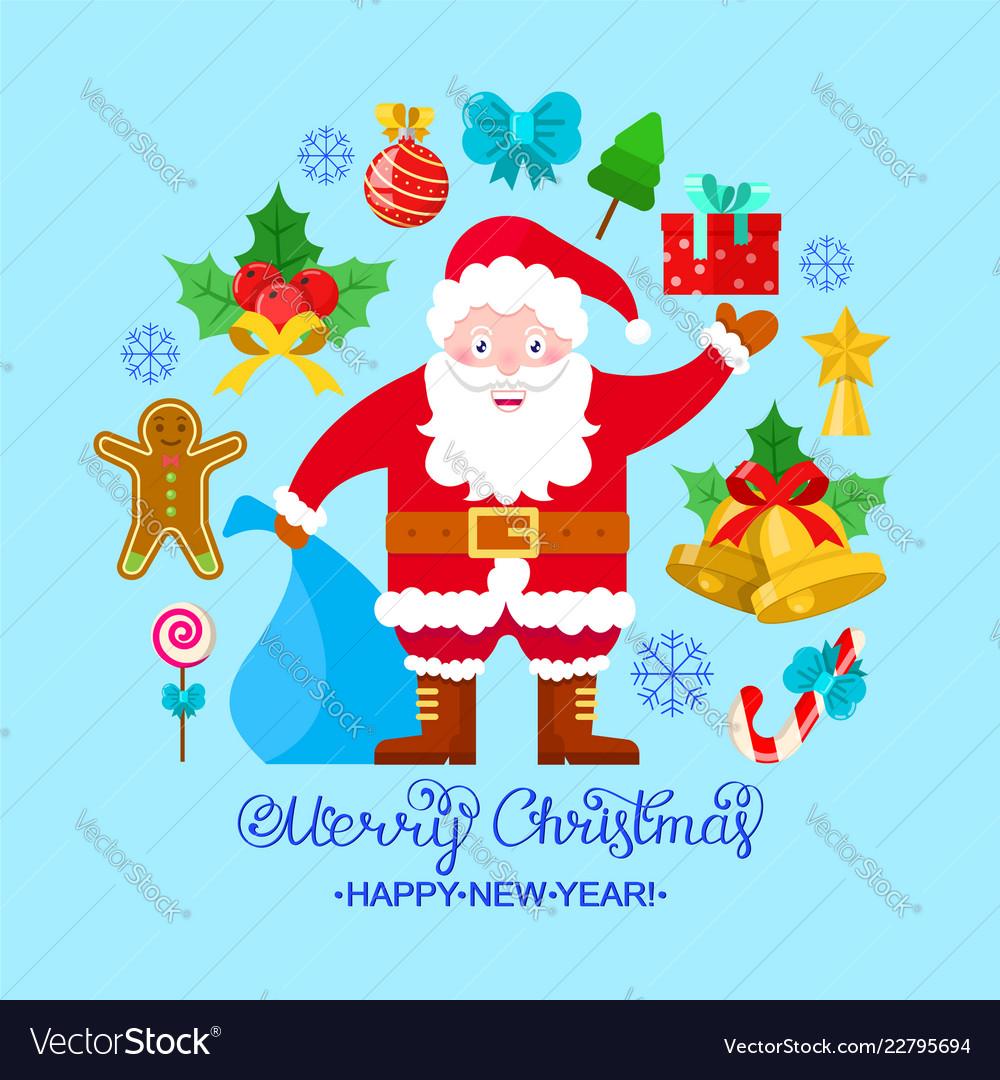 Colorful christmas card
