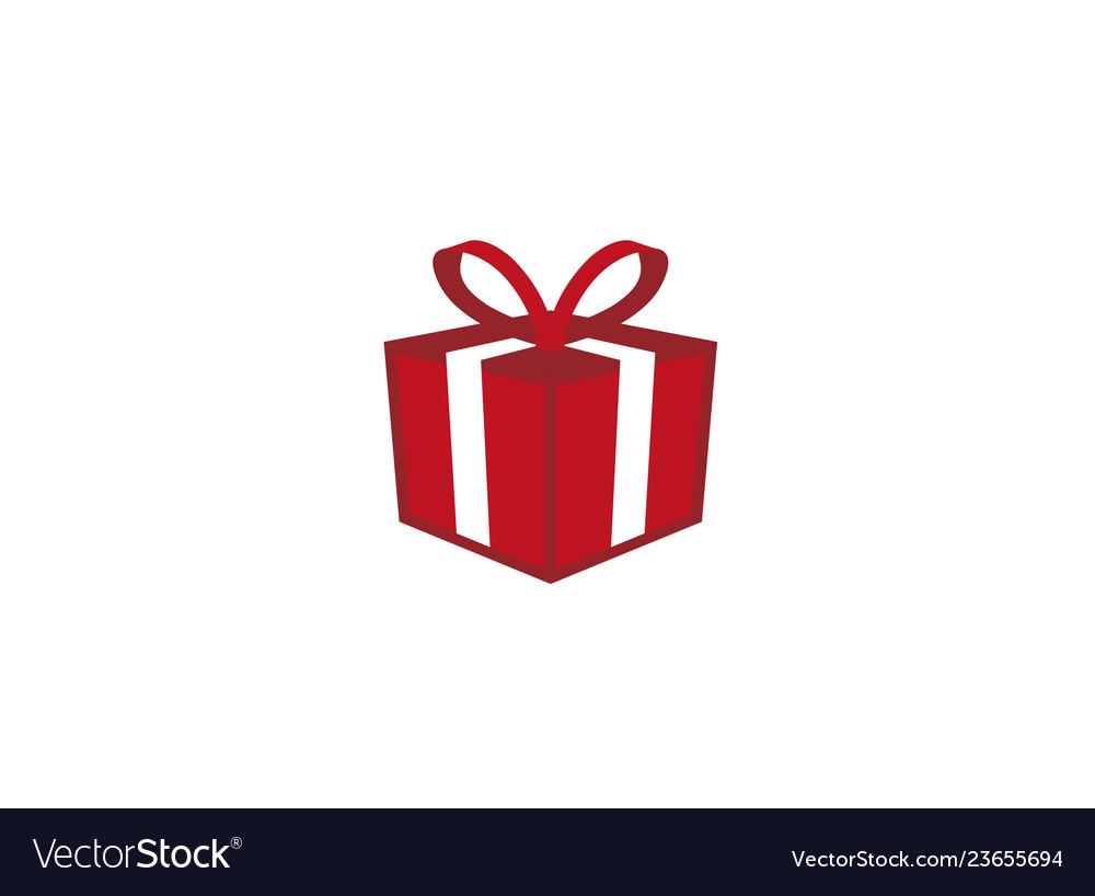 Gift Box A Surprise Icon Design Logo Royalty Free Vector