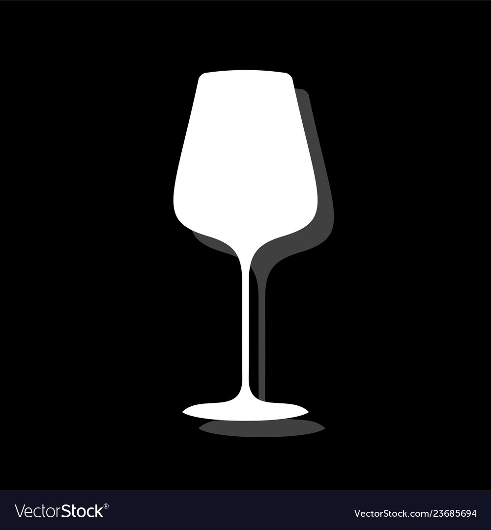 Glass cup for wine or champagne icon flat