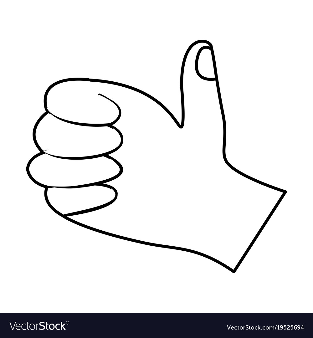 thumbs up hand symbol free gestures icons flaticon - HD 1000×1080