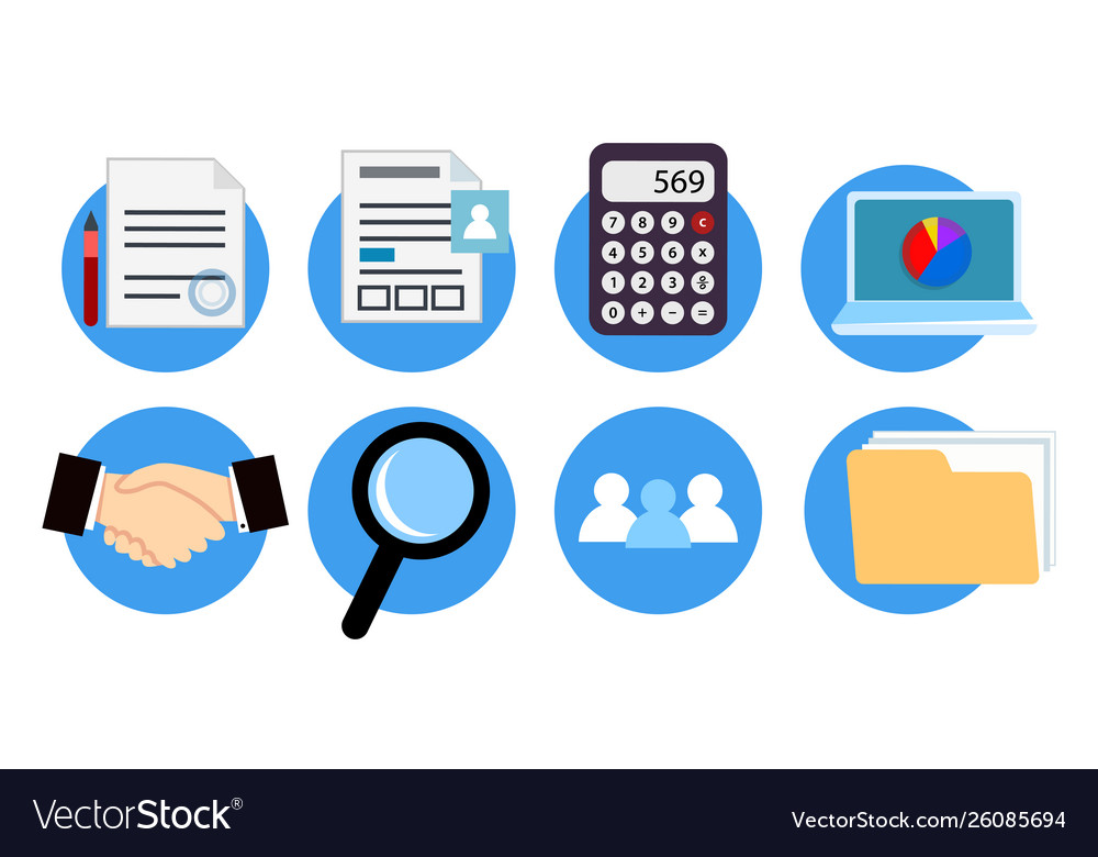 Icons for website design accounting services