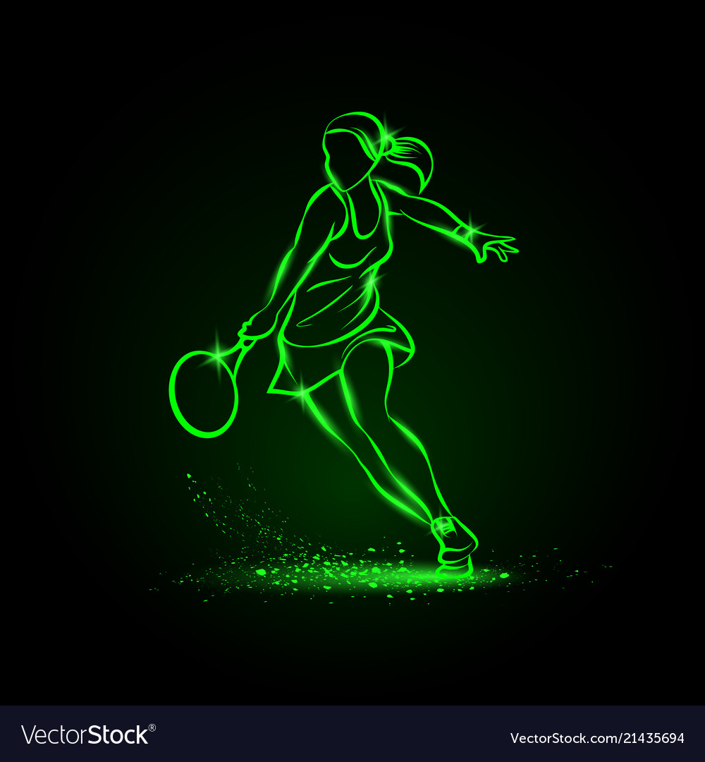 Professional woman tennis player