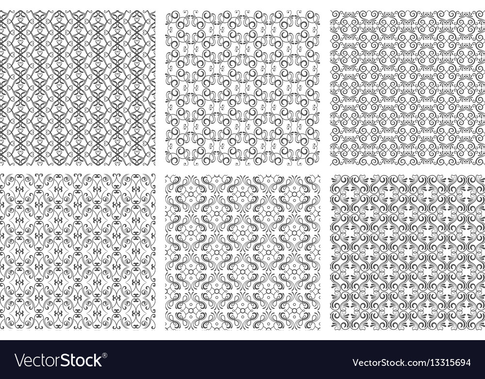 Seamless floral patterns in victorian antique