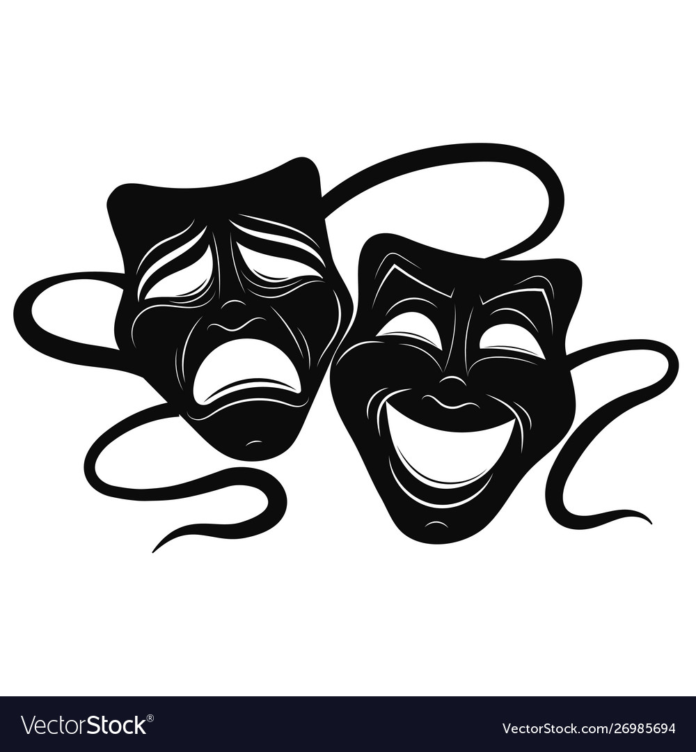 Theatre masks drama and comedy