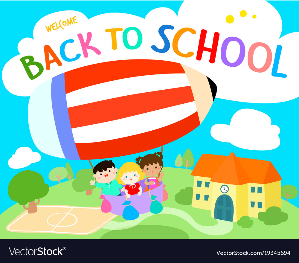 Welcome back to school royalty free vector image for Back home pictures