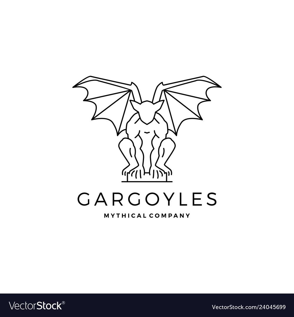 Gargoyles gargoyle logo outline