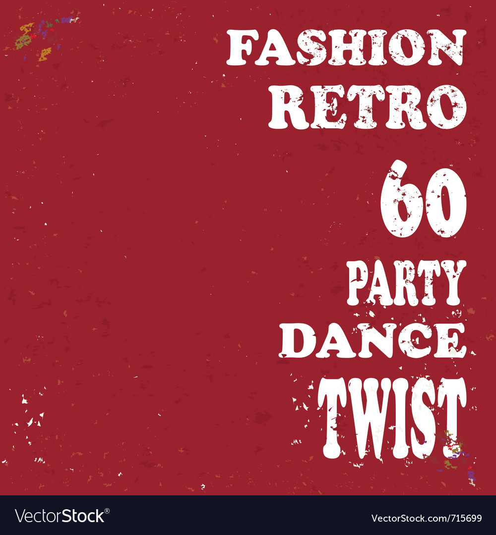 Grunge retro poster