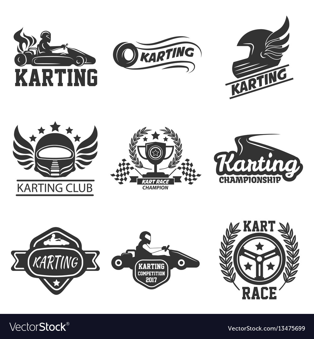 Karting club or kart races sport template