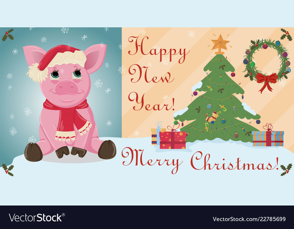 layout cards for christmas and new year theme in vector image
