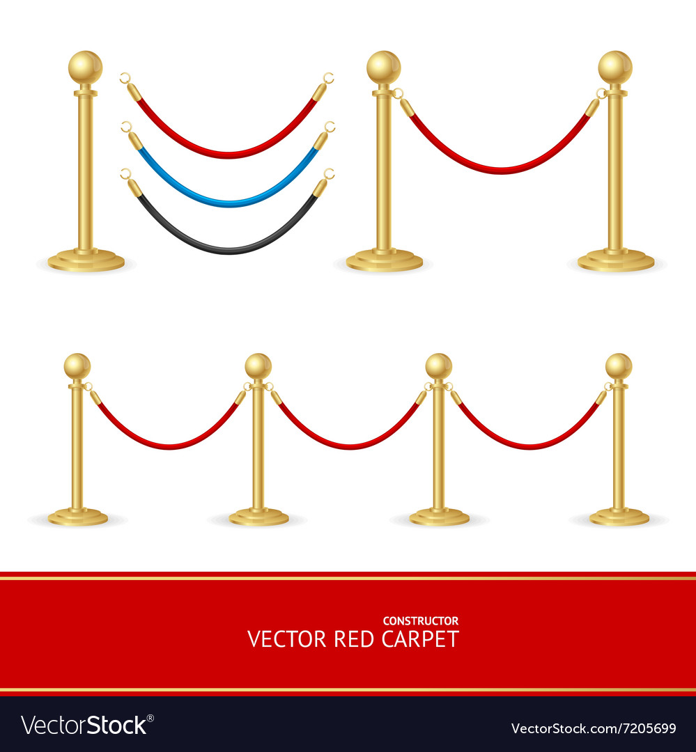 Red Carpet Gold Barrier Constructor