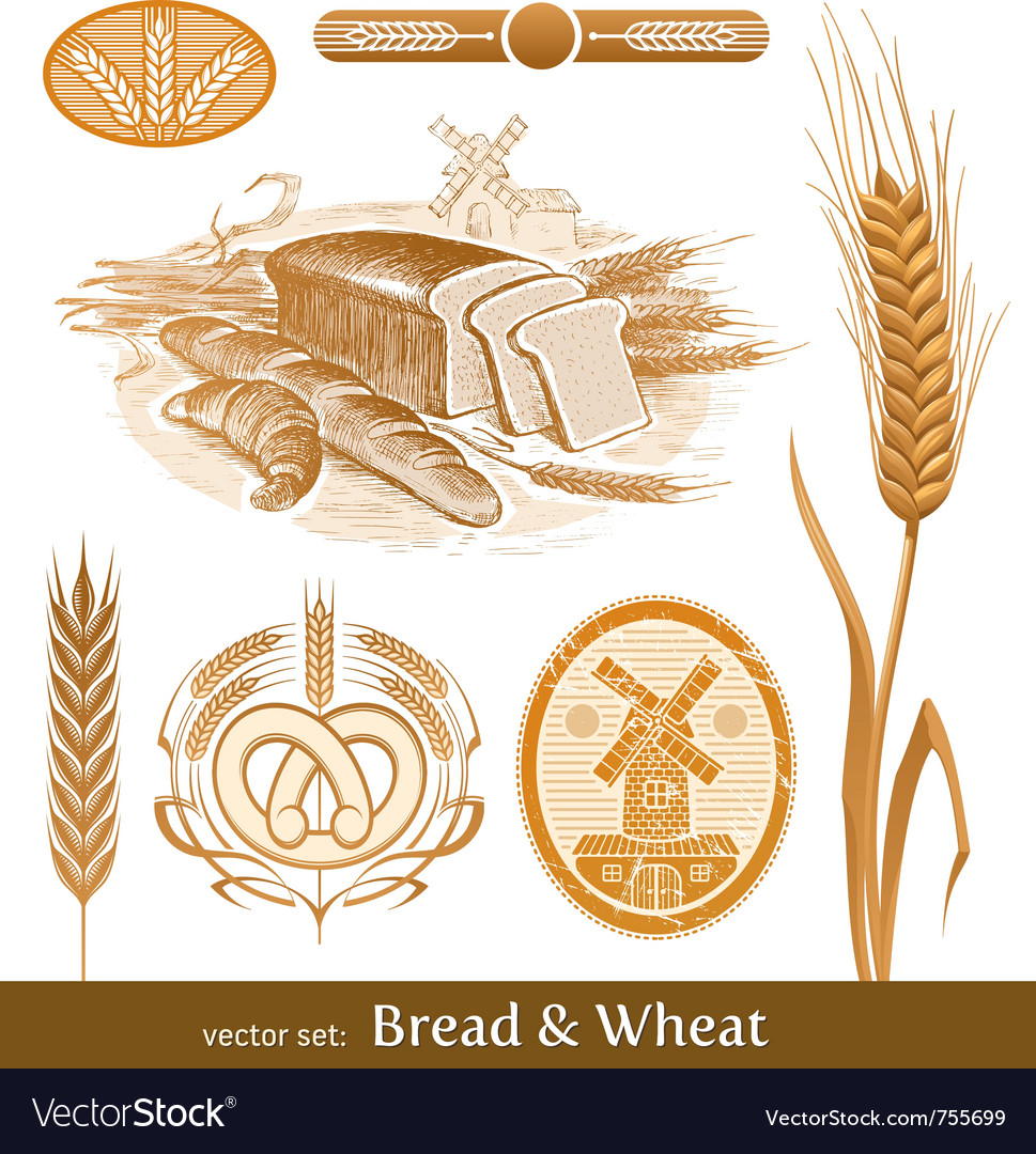 Set - bread and wheat