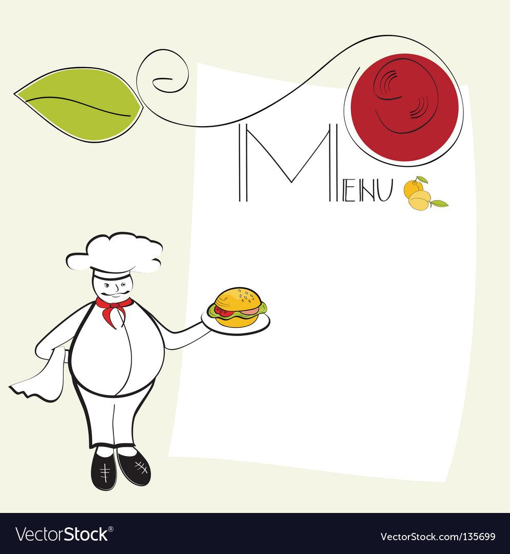 Template for menu vector image