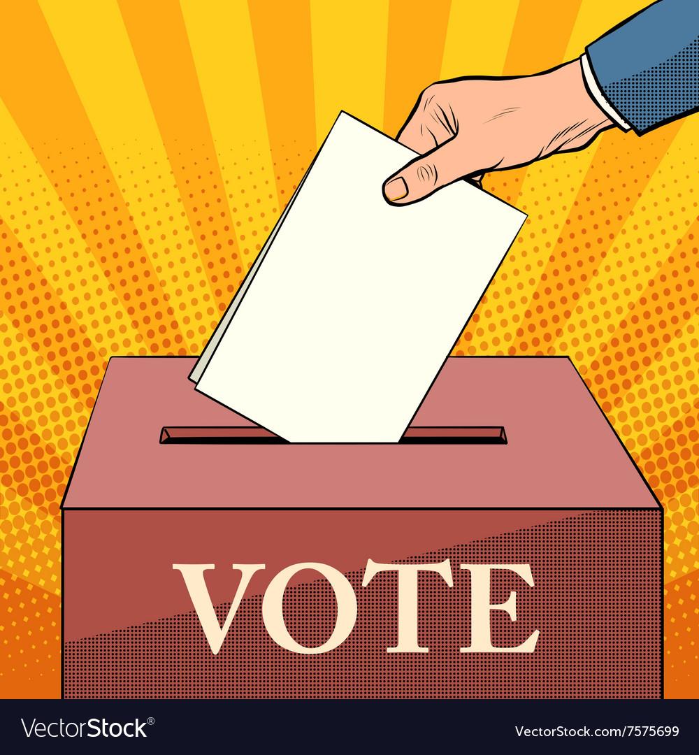 Voter ballot box politics elections Royalty Free Vector