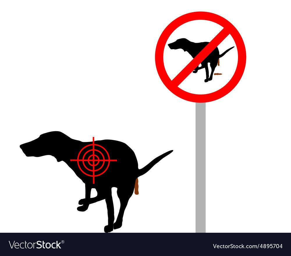 Aim at dog crapping