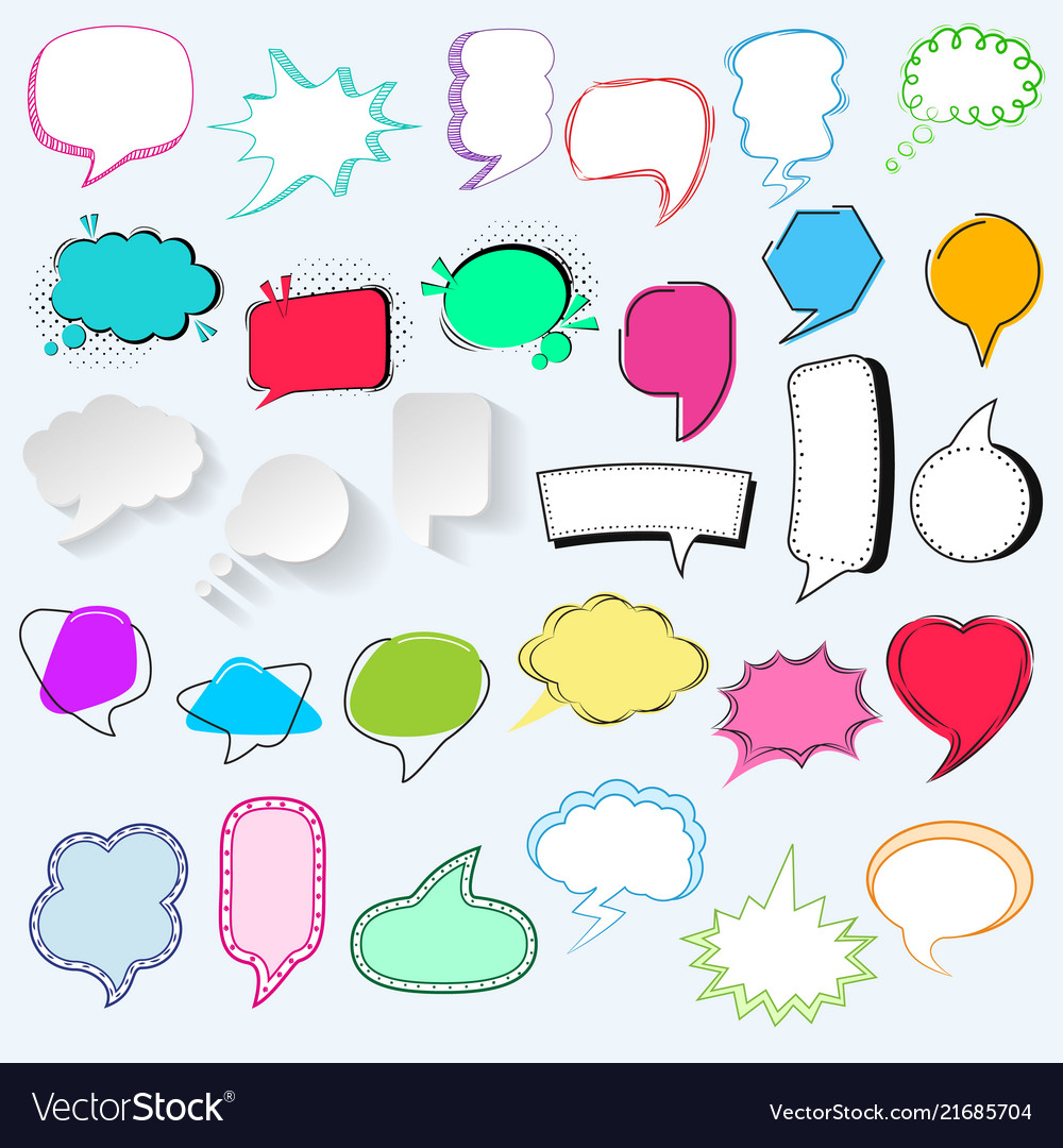 Bubbles blank speech bubbling messages for