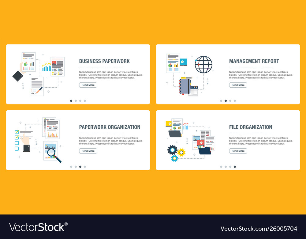 Business paperwork organization review and data