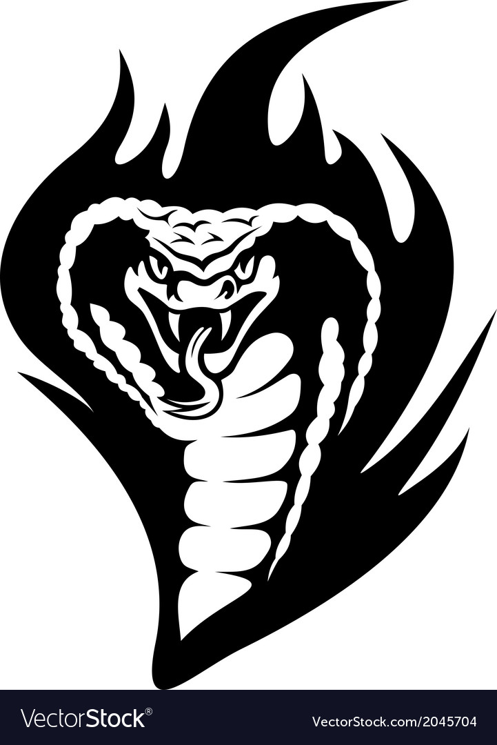 cobra tattoo royalty free vector image vectorstock vectorstock