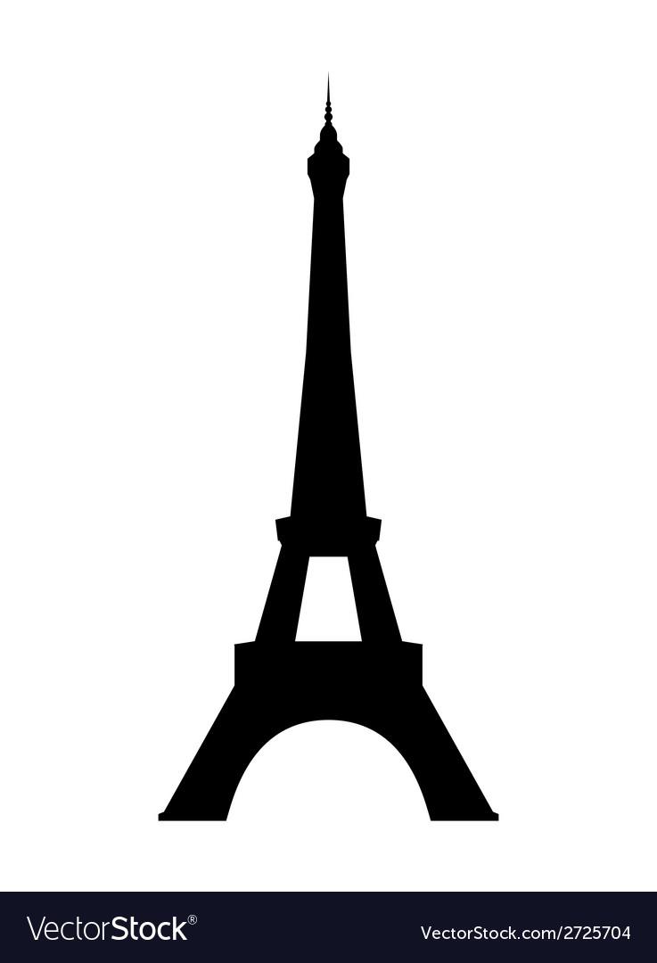 eiffel tower in paris royalty free vector image rh vectorstock com eiffel tower vector png eiffel tower vector png