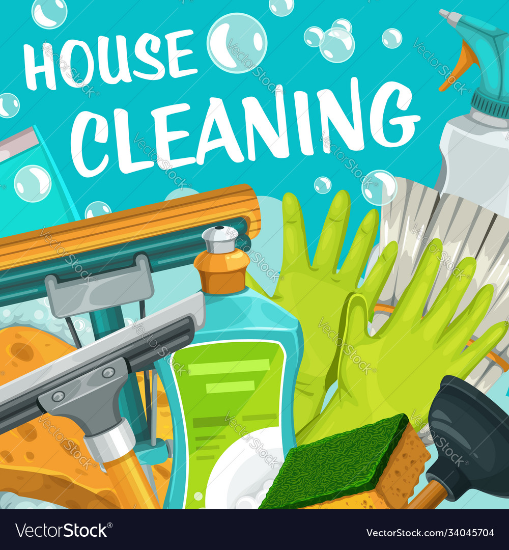 House cleaning service clean home and laundry