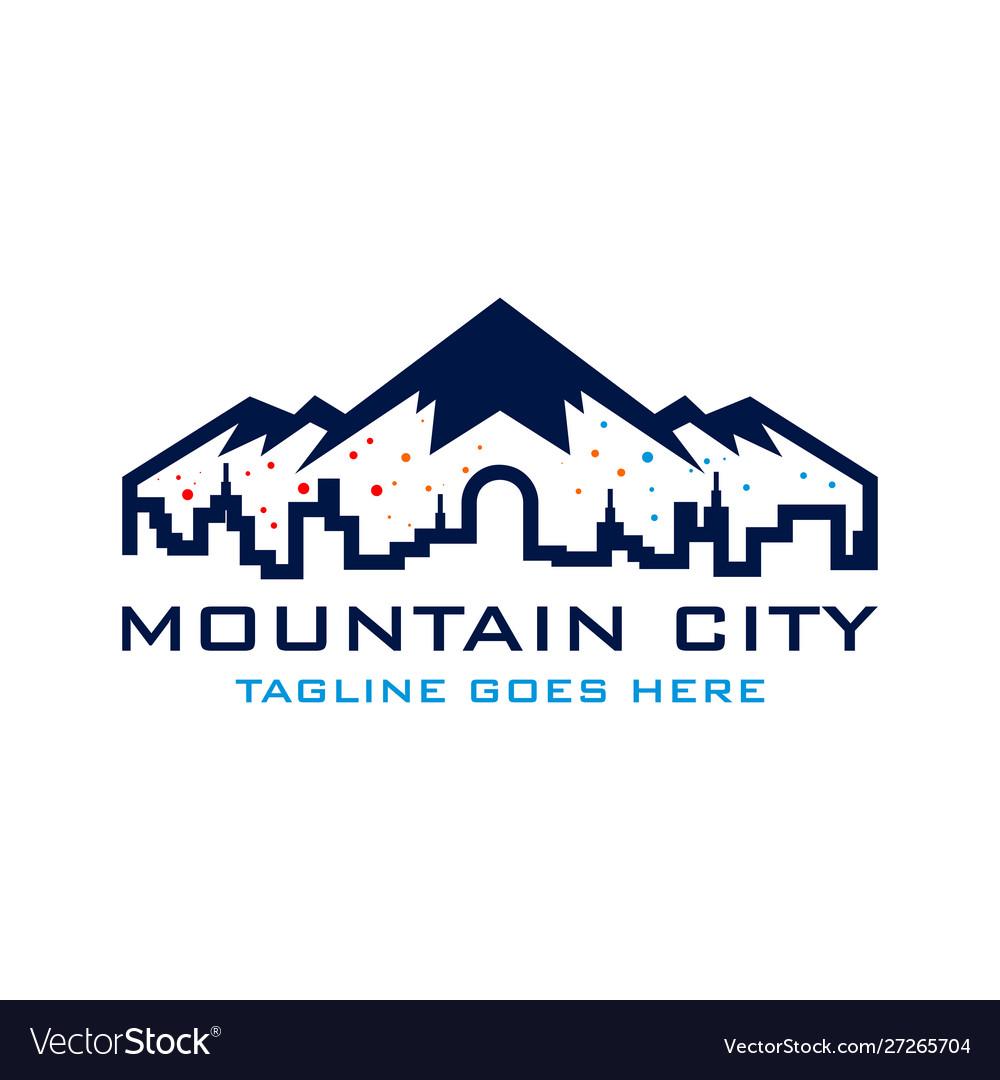 Mountain city logo template