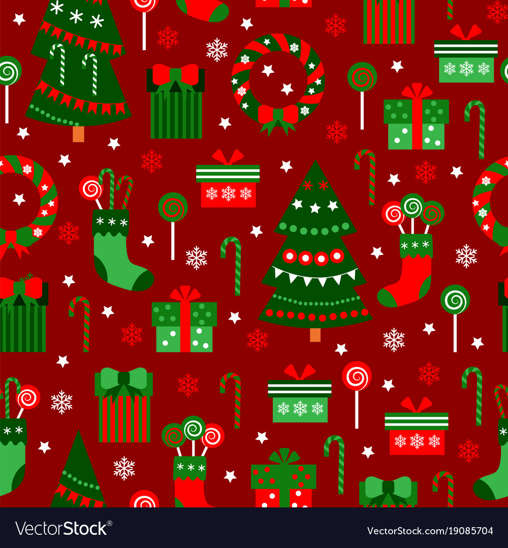 Merry Christmas Flat Vector Image