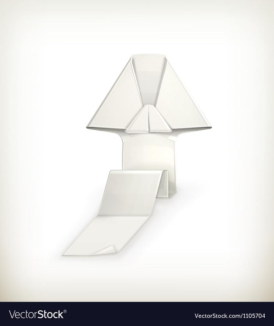 Origami arrow vector image