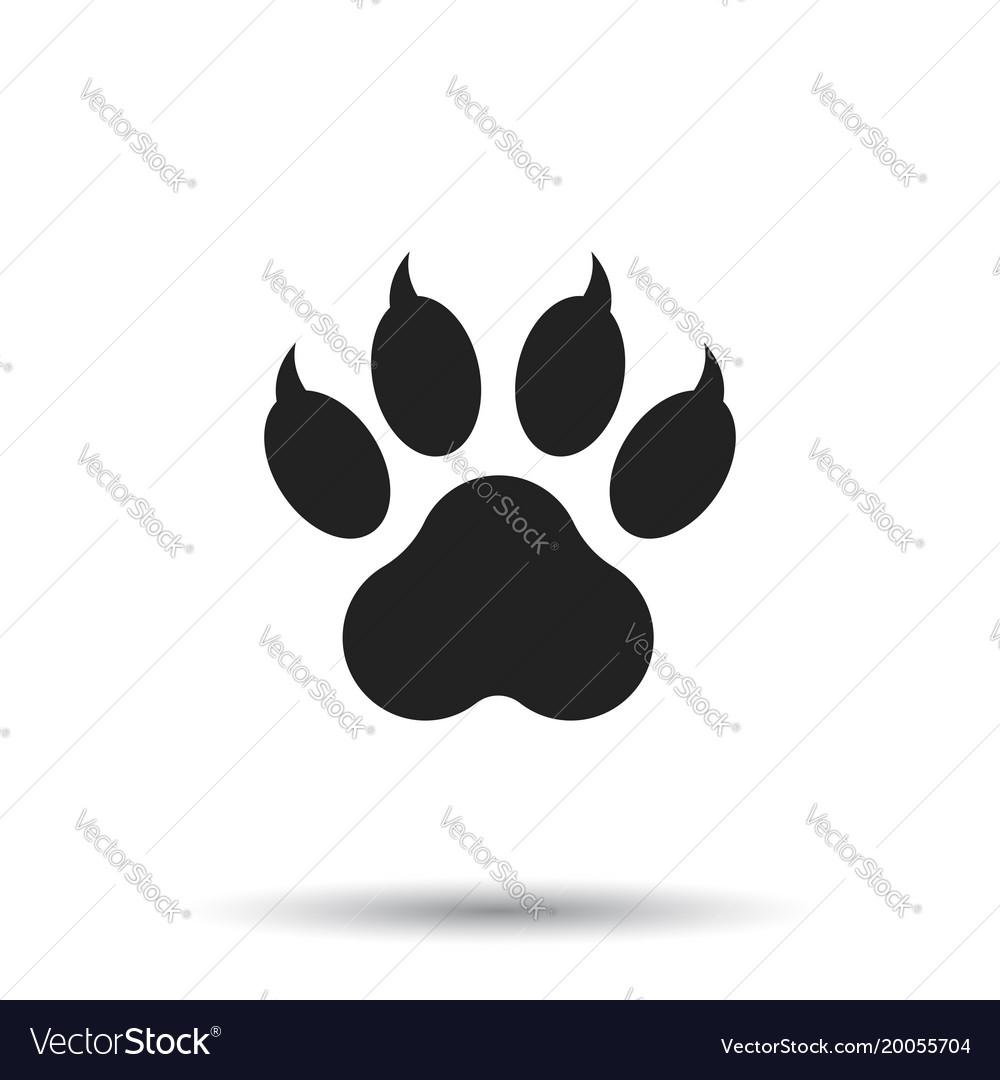 Paw print icon isolated on white background dog