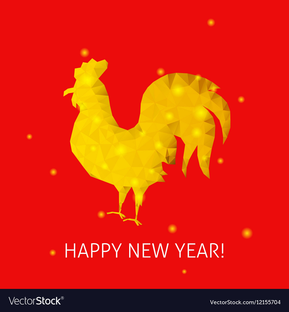 Red Rooster Happy New Year