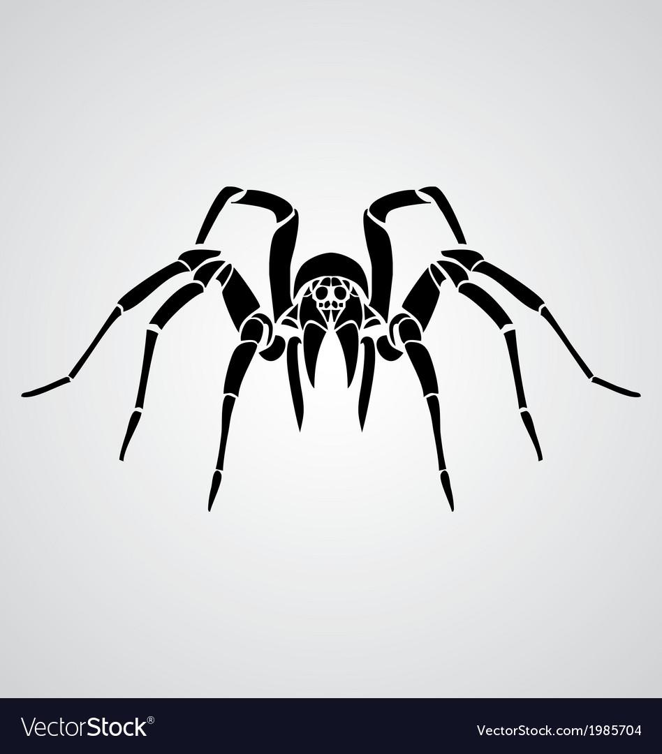 tribal spider royalty free vector image - vectorstock  vectorstock