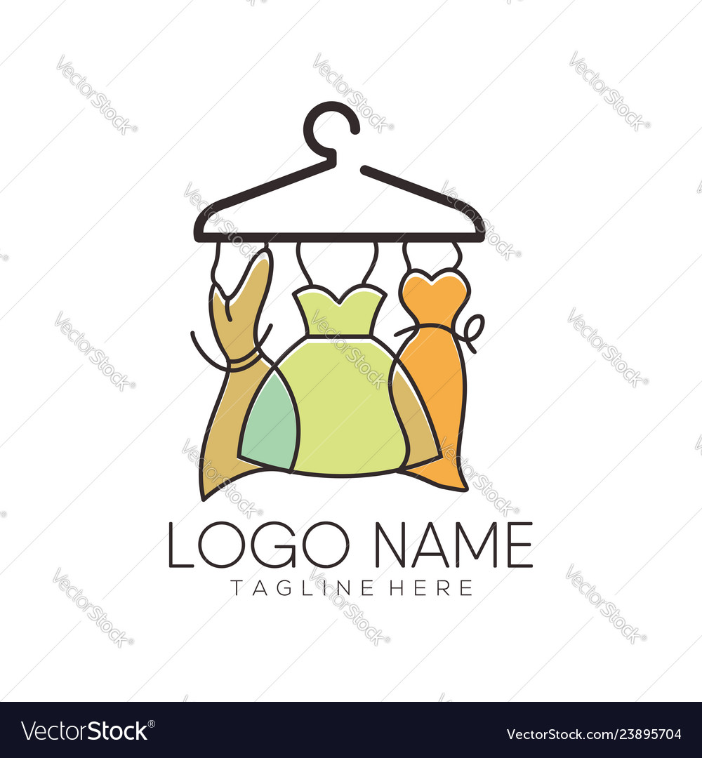 Women fashion logo and icon design
