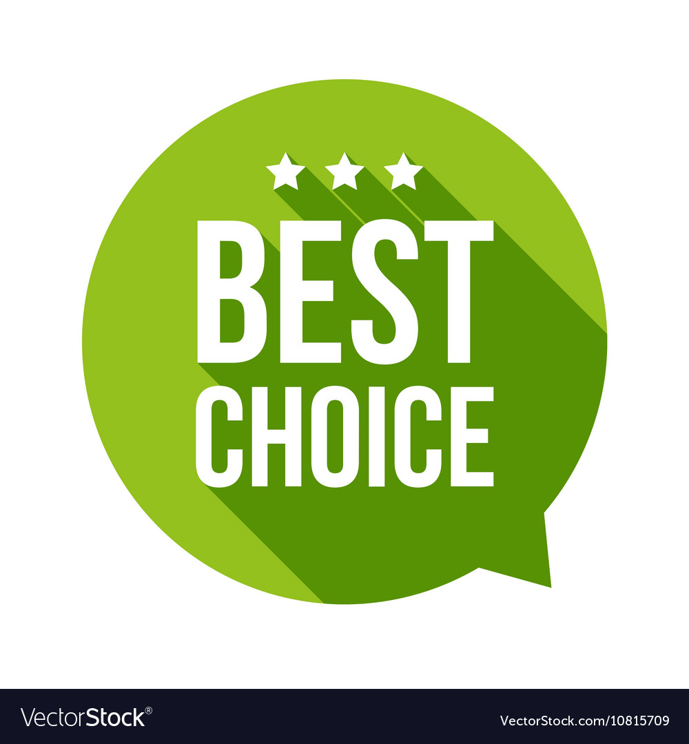 Best Choice speech bubble vector image