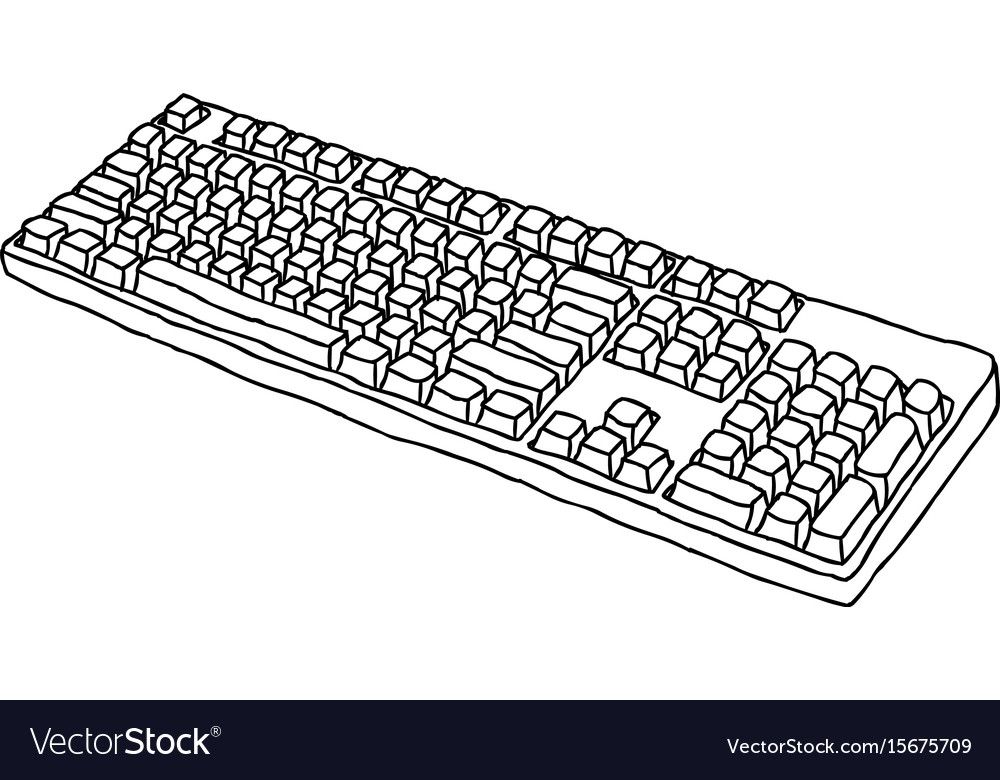 Cartoon Image Of Keyboard Icon Royalty Free Vector Image