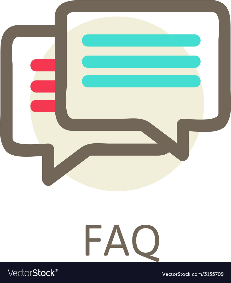Icons for faq support contact