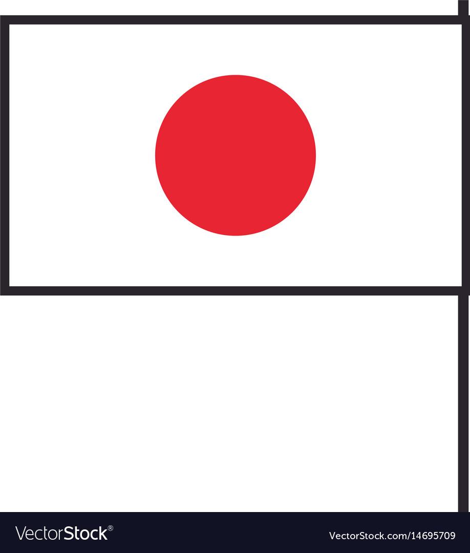 Japan flag emblem country symbol