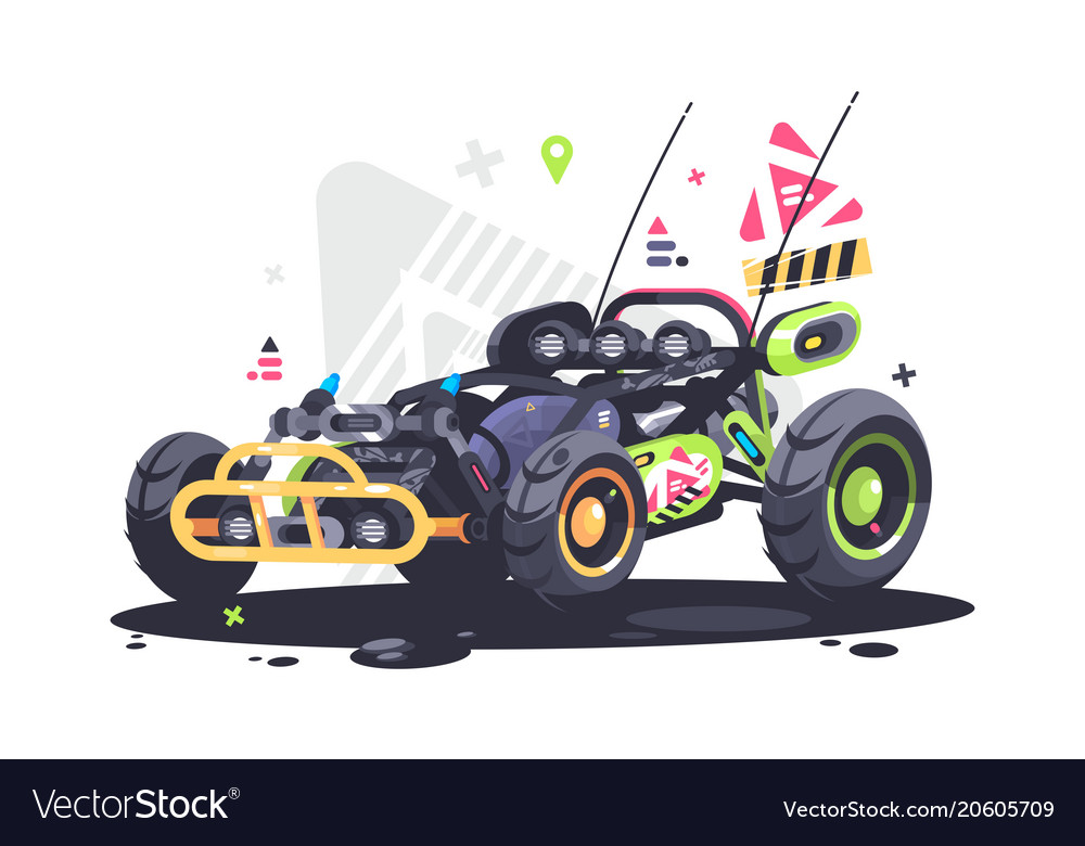 Racing car buggy vector image