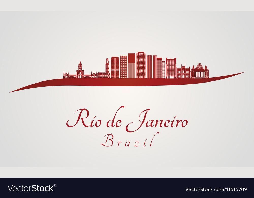Rio de janerio V2 skyline in red