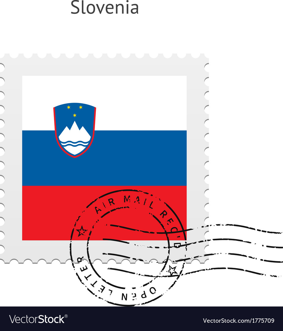 Slovenia Flag Postage Stamp vector image