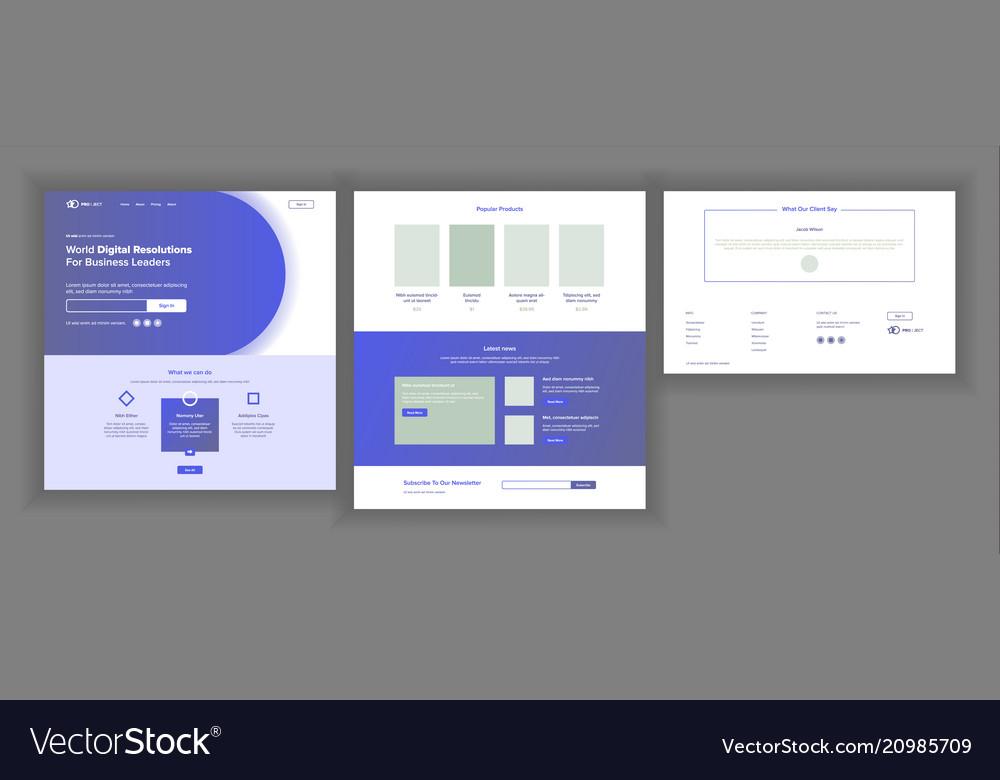 Web page design website business concept