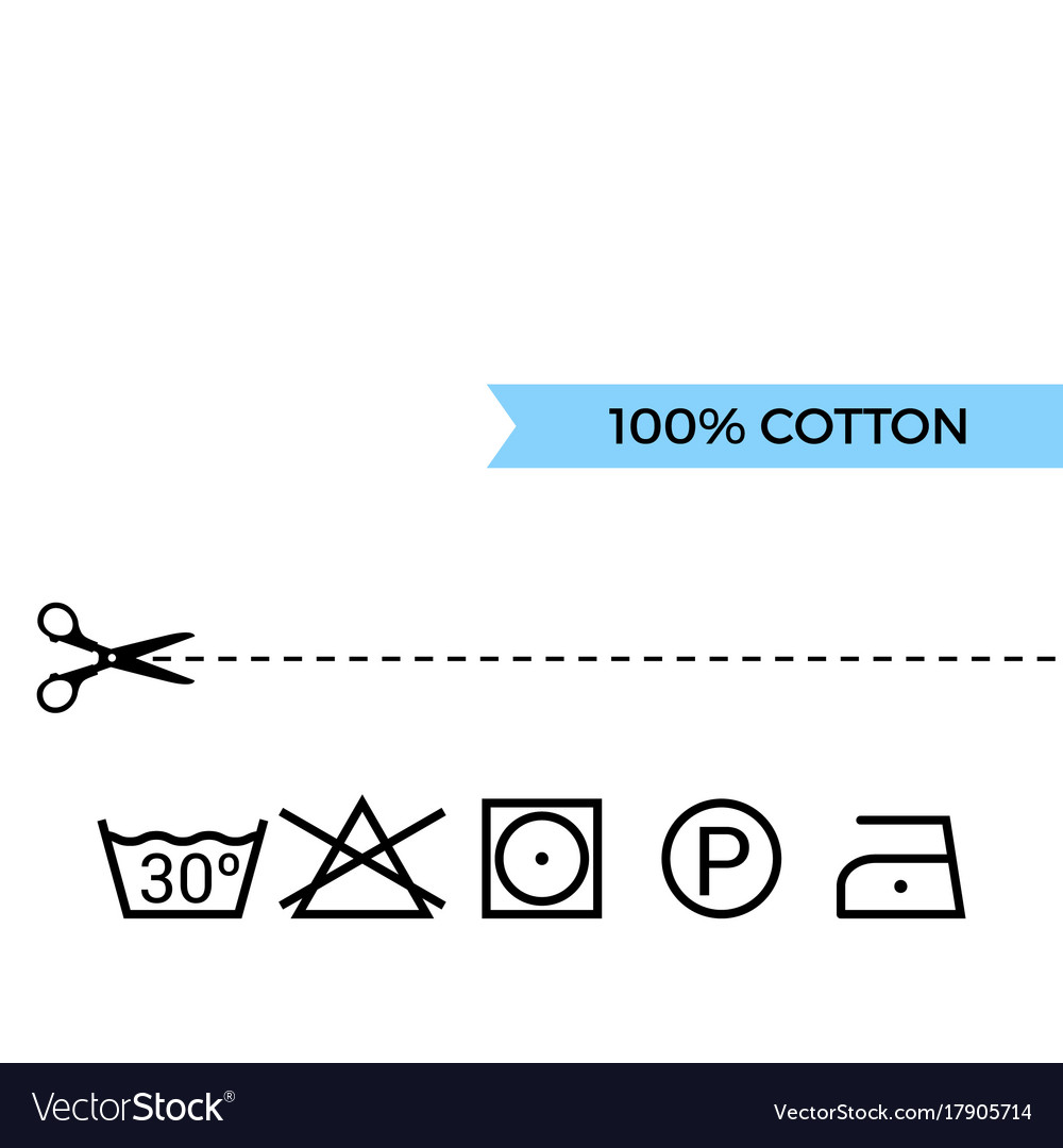 Guide To Laundry Care Symbols Royalty Free Vector Image