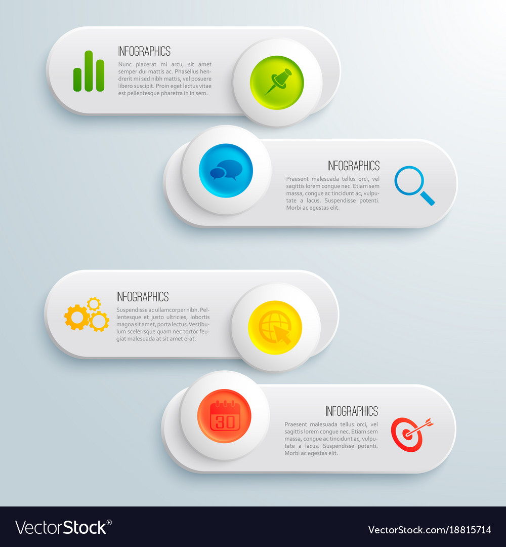 Infographic business horizontal banners