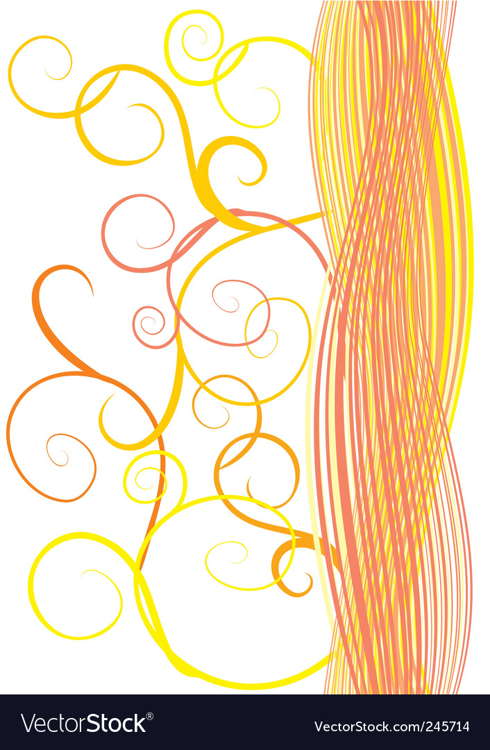 Orange waves and curves