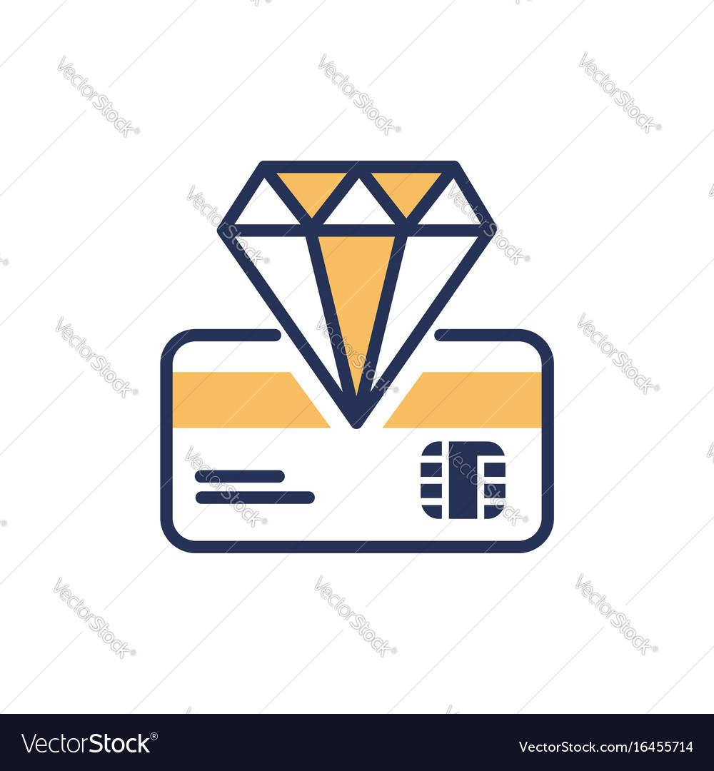 Premium card - modern line design icon