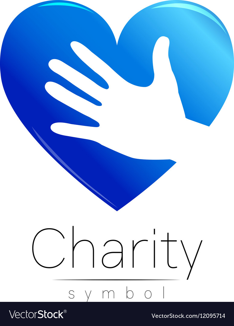 Symbol Of Charity Sign Hand Royalty Free Vector Image