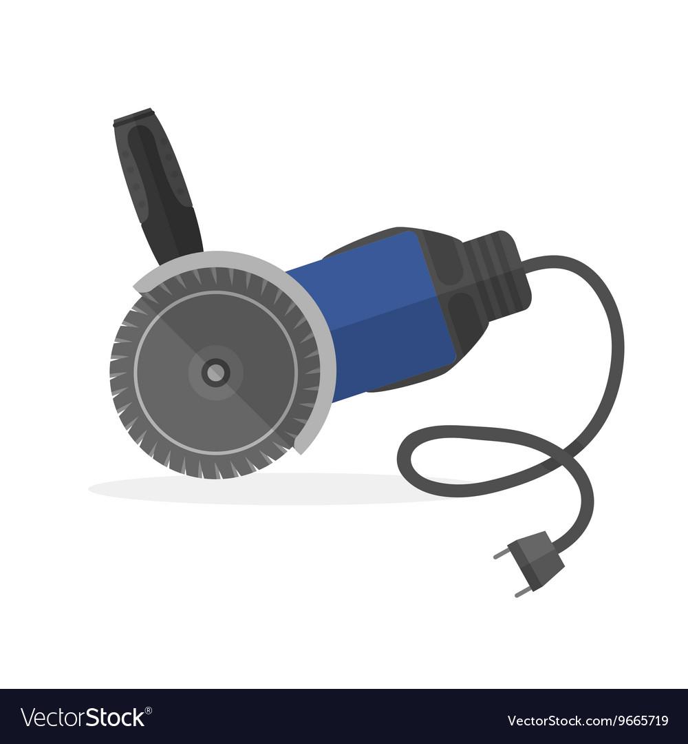 Abrasive wheel or rinding machine electric tool vector image