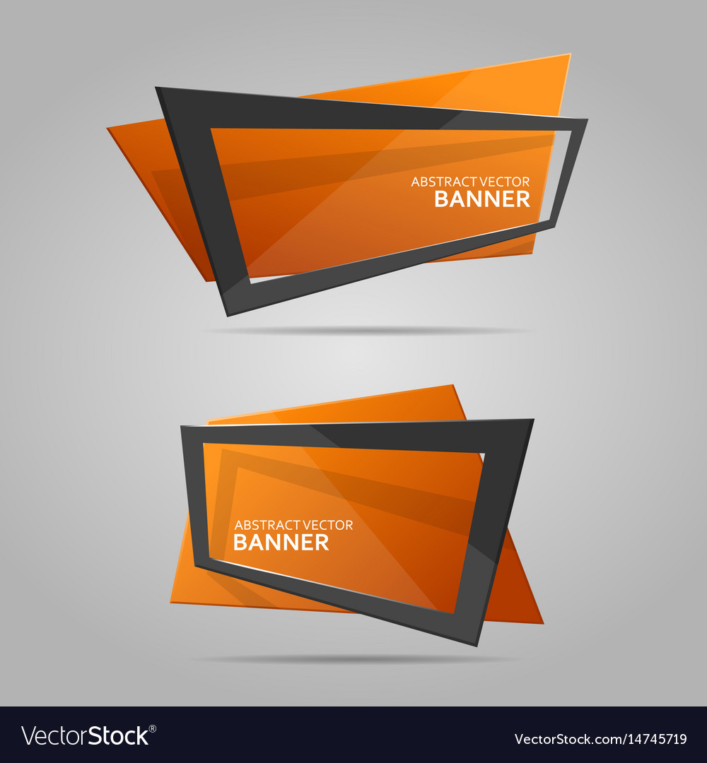 Abstract banner with frame