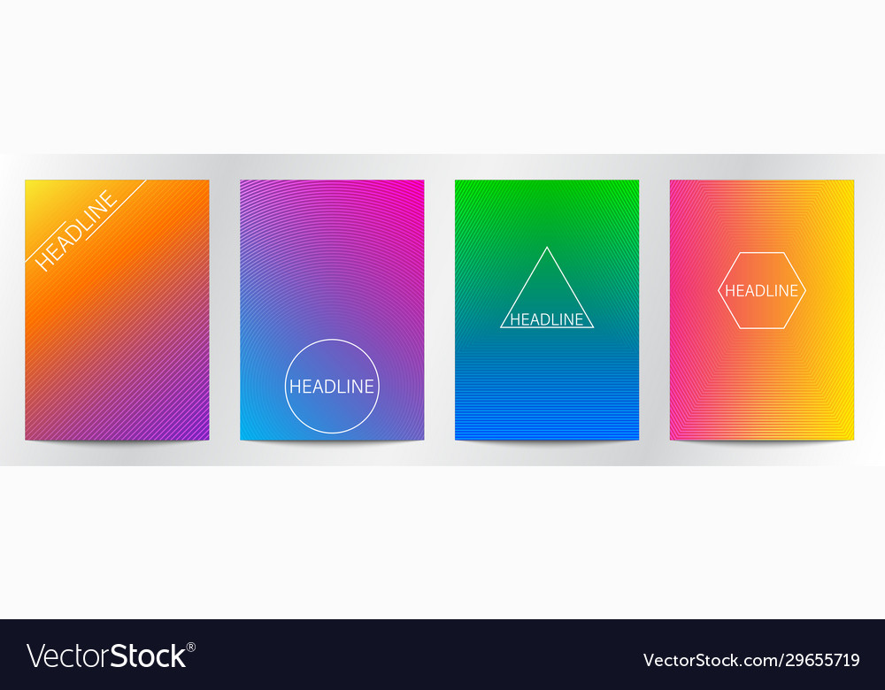 Abstract line gradient color for book cover
