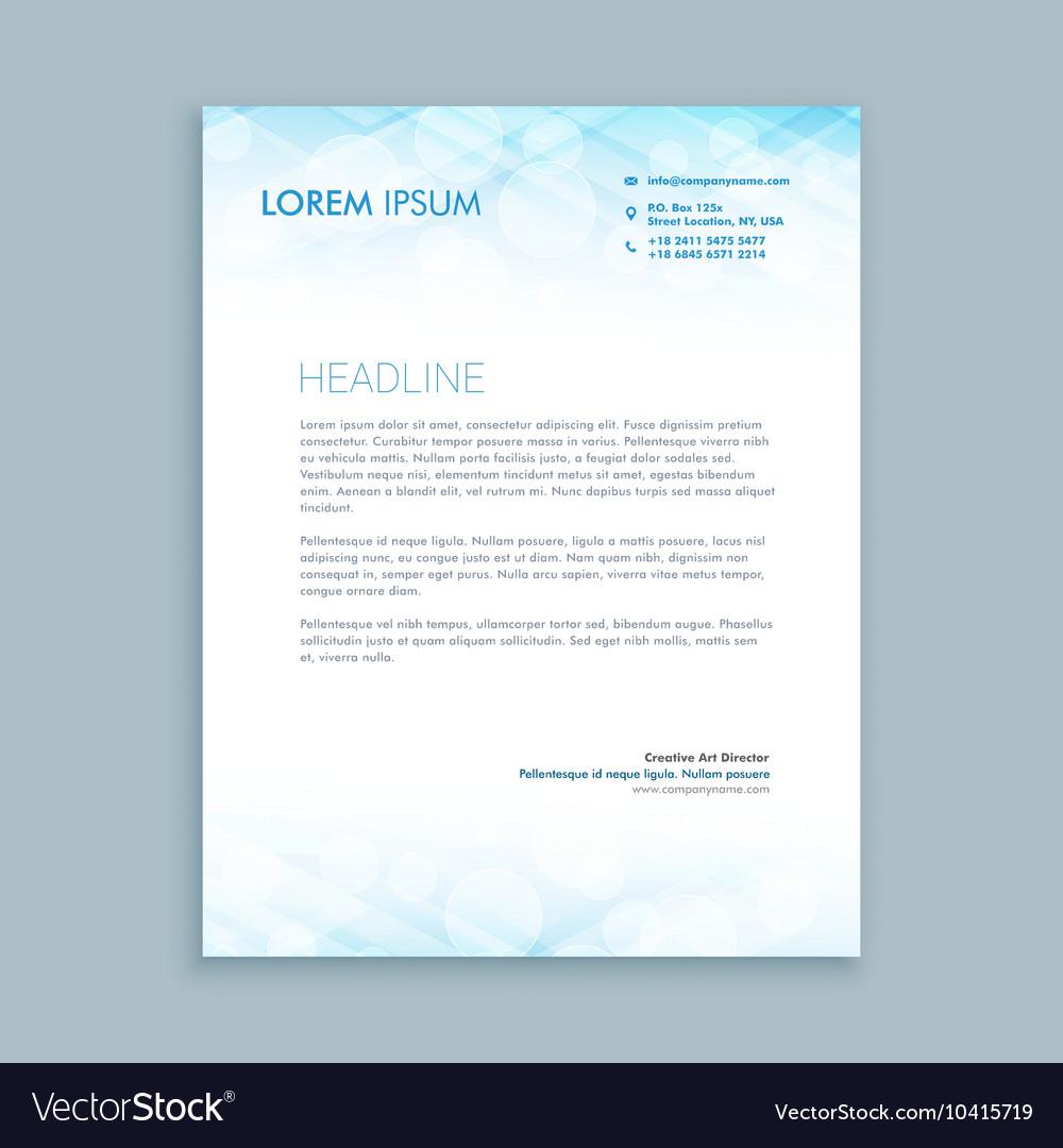 Coporate business letterhead